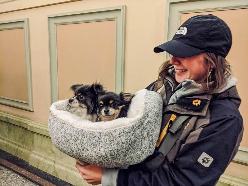 Elli with puppy