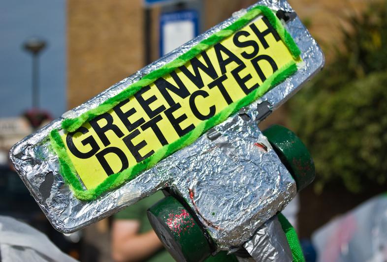 greenwash sign
