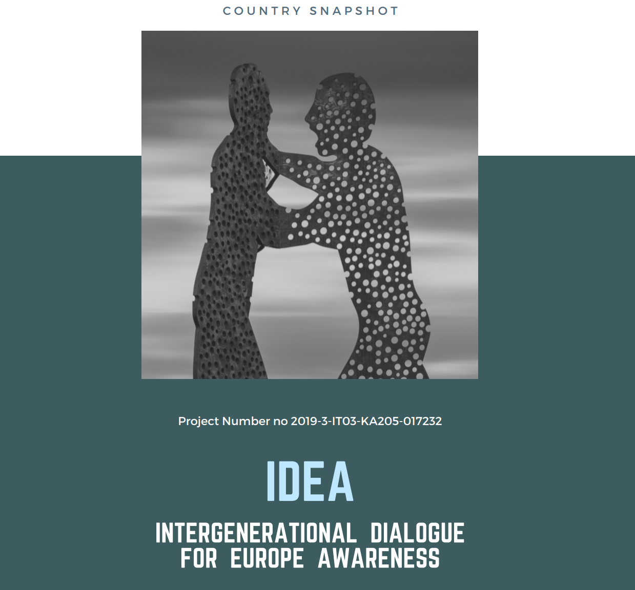 """IDEA: INTERGENERATIONAL DIALOGUE for EUROPEAN AWARENESS"""": a focus on intergenerational equity and social sustainability"""